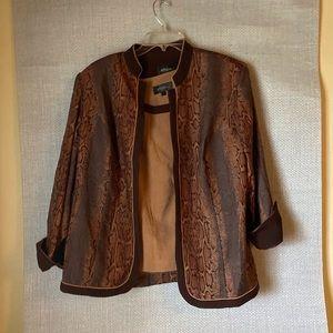 💋NWOT Studio 1 matching velvety jacket+vest💋